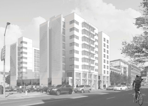 "This is a ""concept"" drawing for TNDC's scaled-down affordable housing project at 1036 Mission Street."