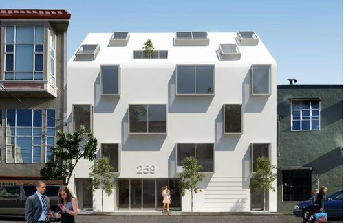 """ Stanley Saitowitz has brought the flash to his newest design for 259 Clara Street in SoMa."" - SF Curbed."